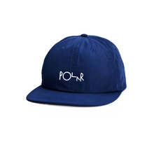 View the Polar Skate Script Logo Cap - Navy from the Snapbacks, 5 Panel Caps clothing range online today from Boarderline