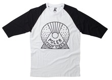 Poler Stuff Snowglobe Baseball Tee - Black/White