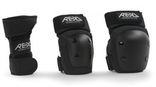 View the REKD JUNIOR HEAVY DUTY TRIPLE PAD SET from the Helmets/Pads clothing range online today from Boarderline