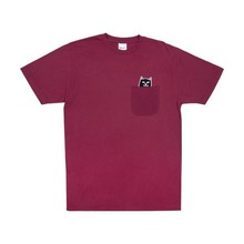 View the RIPNDIP LORD JERMAL POCKET T-SHIRT - WINE from the T-Shirts clothing range online today from Boarderline