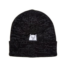 View the Rip N Dip Lord Nermal Beanie - Black Reflective from the Beanies clothing range online today from Boarderline