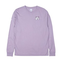 View the Rip N Dip Lord Nermal Longsleeve - Light Purple from the T-Shirts clothing range online today from Boarderline