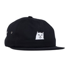 View the RIPNDIP LORD NERMAL POCKET 6 PANEL CAP - BLACK from the Snapbacks, 6 Panel Caps clothing range online today from Boarderline