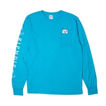 View the RIP N DIP LORD NERMAL POCKET LONGSLEEVE - BLUE from the T-Shirts clothing range online today from Boarderline