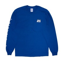View the Rip N Dip Lord Nermal Pocket Longsleeve - Royal from the T-Shirts clothing range online today from Boarderline