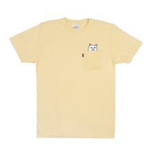 View the Rip N Dip Lord Nermal Pocket T-Shirt - Yellow from the T-Shirts clothing range online today from Boarderline