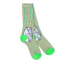 View the Rip N Dip Lord Nermal Socks - Neon Speckle from the Socks clothing range online today from Boarderline