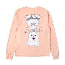 View the Rip N Dip Mind Blown Longsleeve - Peach from the T-Shirts clothing range online today from Boarderline