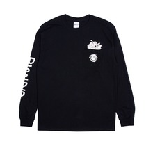 View the RIP N DIP NERMAMANIAC LONG SLEEVE - BLACK  from the T-Shirts clothing range online today from Boarderline