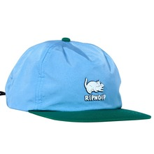 View the RIPNDIP TWO NERMS POLY 5 PANEL CAP - BLUE/GREEN from the Snapbacks, 6 Panel Caps clothing range online today from Boarderline