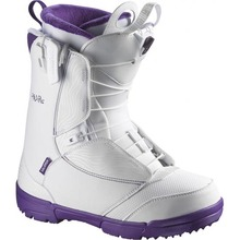 View the Salomon Pearl Womens Snowboard Boot - White/Grape from the Womens Snowboard Boots clothing range online today from Boarderline