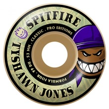 View the Spitfire Formula Four Tyshawn Pro Wheels 99d - 53mm from the Wheels clothing range online today from Boarderline