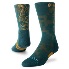 View the Stance Alpha Hike Light Socks - Green from the Socks clothing range online today from Boarderline