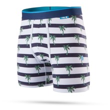 View the Stance Island Stripes Boxer Shorts - Navy from the Underwear clothing range online today from Boarderline