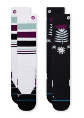 View the Stance Monro 2 Pack Snow Socks - Multi from the Womens Snowboard Socks clothing range online today from Boarderline