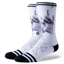 View the STANCE VENICE SOCK - WHITE from the Socks clothing range online today from Boarderline