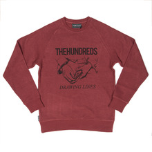 The Hundreds Shark Crew - Maroon