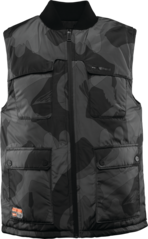 View the Thirty Two Beacon Reversible Vest - Black/Camo from the Fleece/Layering clothing range online today from Boarderline