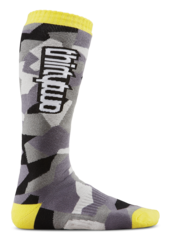 Thirty Two Fragment Sock - Black/Yellow