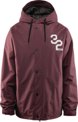 View the Thirty Two Grasser Jacket - Burgundy from the Mens Snowboard Jackets clothing range online today from Boarderline