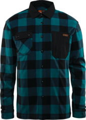 View the Thirty Two Rest Stop Fleece Shirt - Indigo from the Fleece/Layering clothing range online today from Boarderline