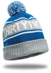 Thirty Two Stackhouse Beanie - Blue/Grey