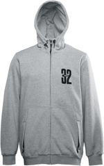 View the Thirty Two Stamped Zip Hood - Heather Grey from the Fleece/Layering clothing range online today from Boarderline