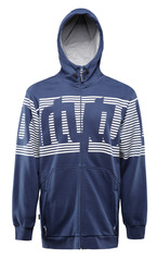 View the Thirty Two Stamped Zip Hood - Indigo from the Fleece/Layering clothing range online today from Boarderline