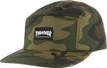View the Thrasher 5 Panel Cap - Camo from the Snapbacks, 6 Panel Caps clothing range online today from Boarderline
