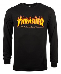 View the Thrasher Flame Logo Long Sleeve - Black from the T-Shirts clothing range online today from Boarderline