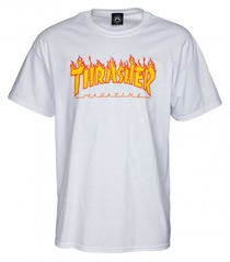 View the Thrasher Flame Logo T-Shirt - White from the T-Shirts clothing range online today from Boarderline