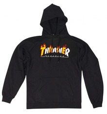 View the Thrasher Flame Mag Hood - Black from the Hoods and Crews clothing range online today from Boarderline