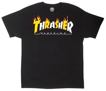 View the Thrasher Flame Mag T-Shirt - Black from the T-Shirts clothing range online today from Boarderline