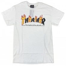 View the Thrasher Flame Mag T-Shirt - White from the T-Shirts clothing range online today from Boarderline