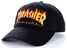 View the THRASHER FLAME OLD TIMER CAP - BLACK from the Snapbacks, 6 Panel Caps clothing range online today from Boarderline