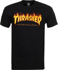 View the Thrasher Flame T-Shirt - Black from the T-Shirts clothing range online today from Boarderline