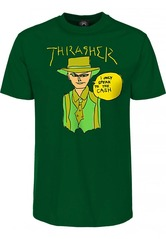 View the Thrasher Gonz Cash T-Shirt - Forest Green from the T-Shirts clothing range online today from Boarderline