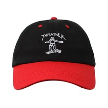 View the Thrasher Gonz Old Timer Cap - Black/Red from the Snapbacks, 6 Panel Caps clothing range online today from Boarderline