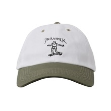 View the Thrasher Gonz Old Timer Cap - White/Olive from the Snapbacks, 6 Panel Caps clothing range online today from Boarderline