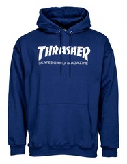View the Thrasher Mag Logo Hood - Navy from the Hoods and Crews clothing range online today from Boarderline
