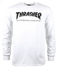 View the Thrasher Mag Long Sleeve - White from the T-Shirts clothing range online today from Boarderline