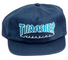 View the Thrasher Outlined Cap - Navy/Grey from the Snapbacks, 6 Panel Caps clothing range online today from Boarderline