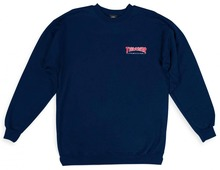 View the Thrasher Outlined Crew Sweat - Navy from the Hoods and Crews clothing range online today from Boarderline