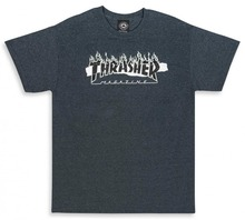 View the Thrasher Ripped T-Shirt - Dark Heather from the T-Shirts clothing range online today from Boarderline