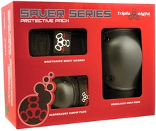 View the TRIPLE EIGHT SAVER SERIES PAD SET from the Helmets/Pads clothing range online today from Boarderline
