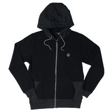 View the Volcom Backronym Zip Hood - Black from the Hoods and Crews clothing range online today from Boarderline