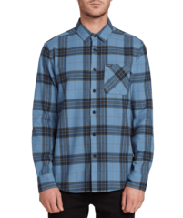 View the VOLCOM CADEN PLAID FLANNEL - BLUE RINSE from the Shirts clothing range online today from Boarderline