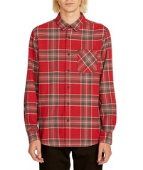 View the VOLCOM CADEN PLAID FLANNEL - BURGUNDY from the Shirts clothing range online today from Boarderline
