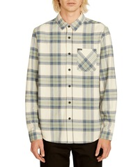 View the VOLCOM CADEN PLAID FLANNEL - OFF WHITE from the Shirts clothing range online today from Boarderline