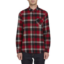 View the Volcom Caden Plaid Shirt - Deep Red from the Shirts clothing range online today from Boarderline